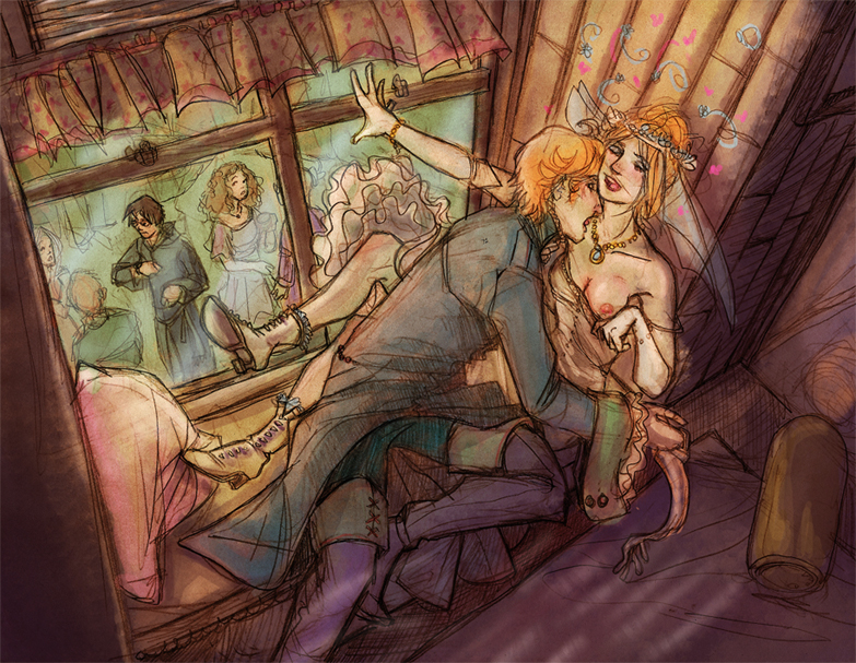 from potter hermione naked harry Boris the wolf bendy and the ink machine