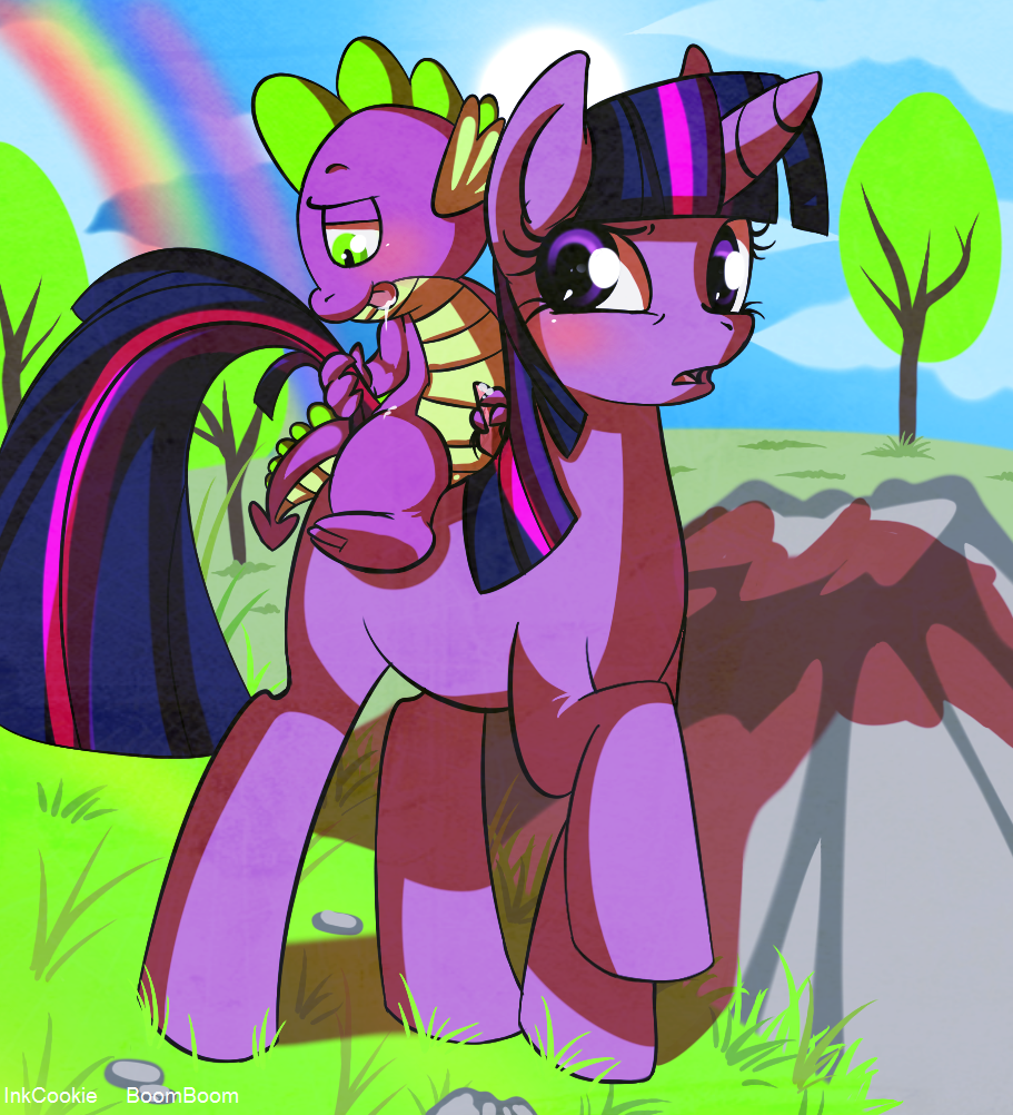 my friendship pony is magic tlckle little spike Nyarko san another crawling chaos