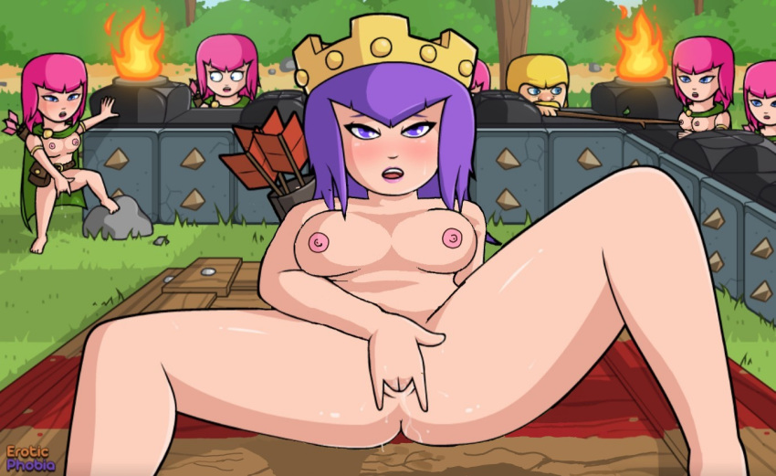hentai clans clash game of One punch man mosquito girl nude